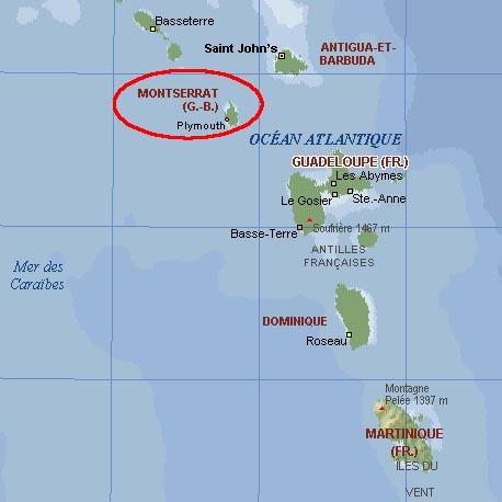 montserrat sur la carte du monde